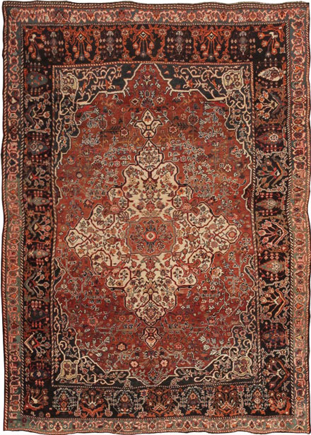 Antique Gashgia / Qashqa'i Persian Rug #43768 Main Image - By Nazmiyal