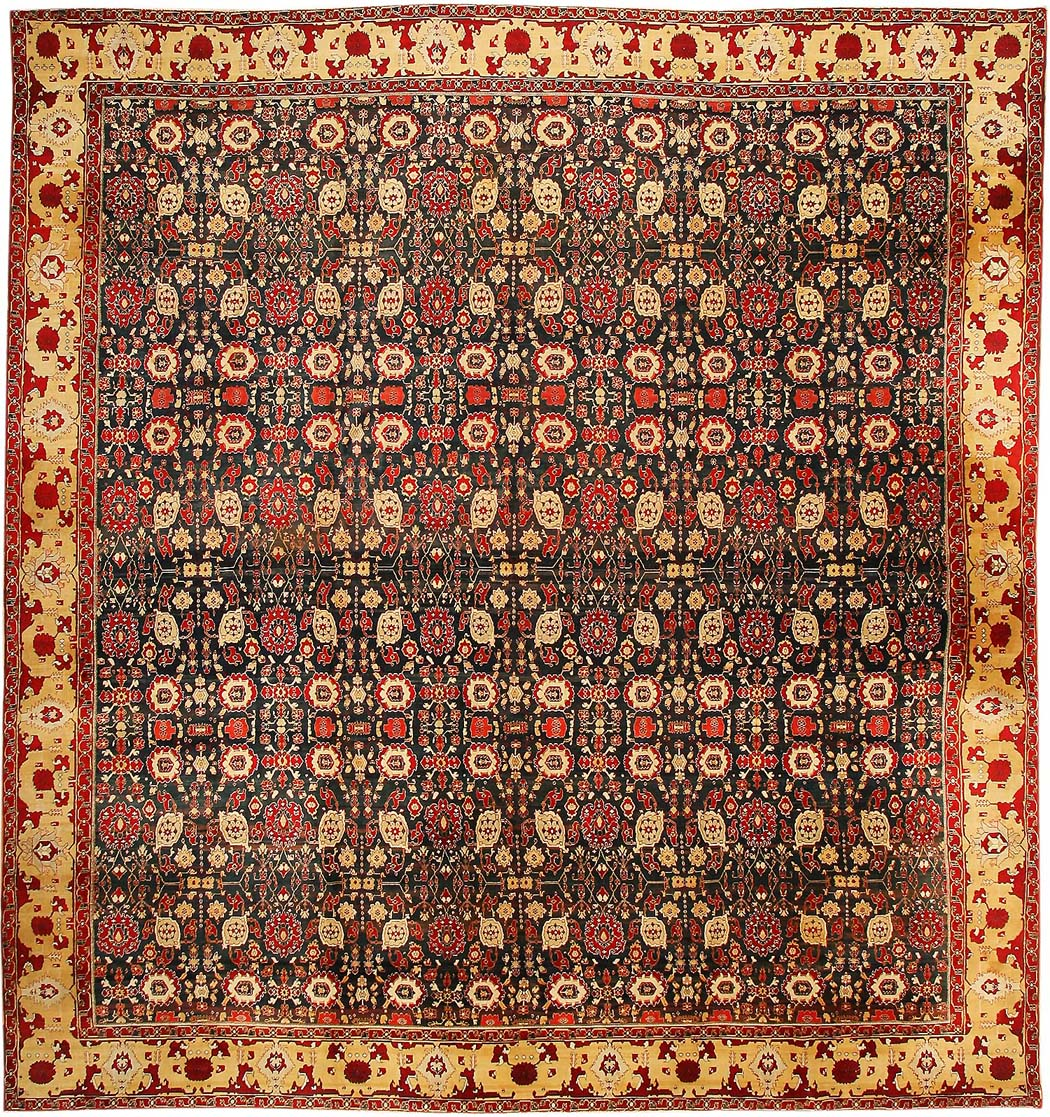 Antique Agra Indian Rugs 43422