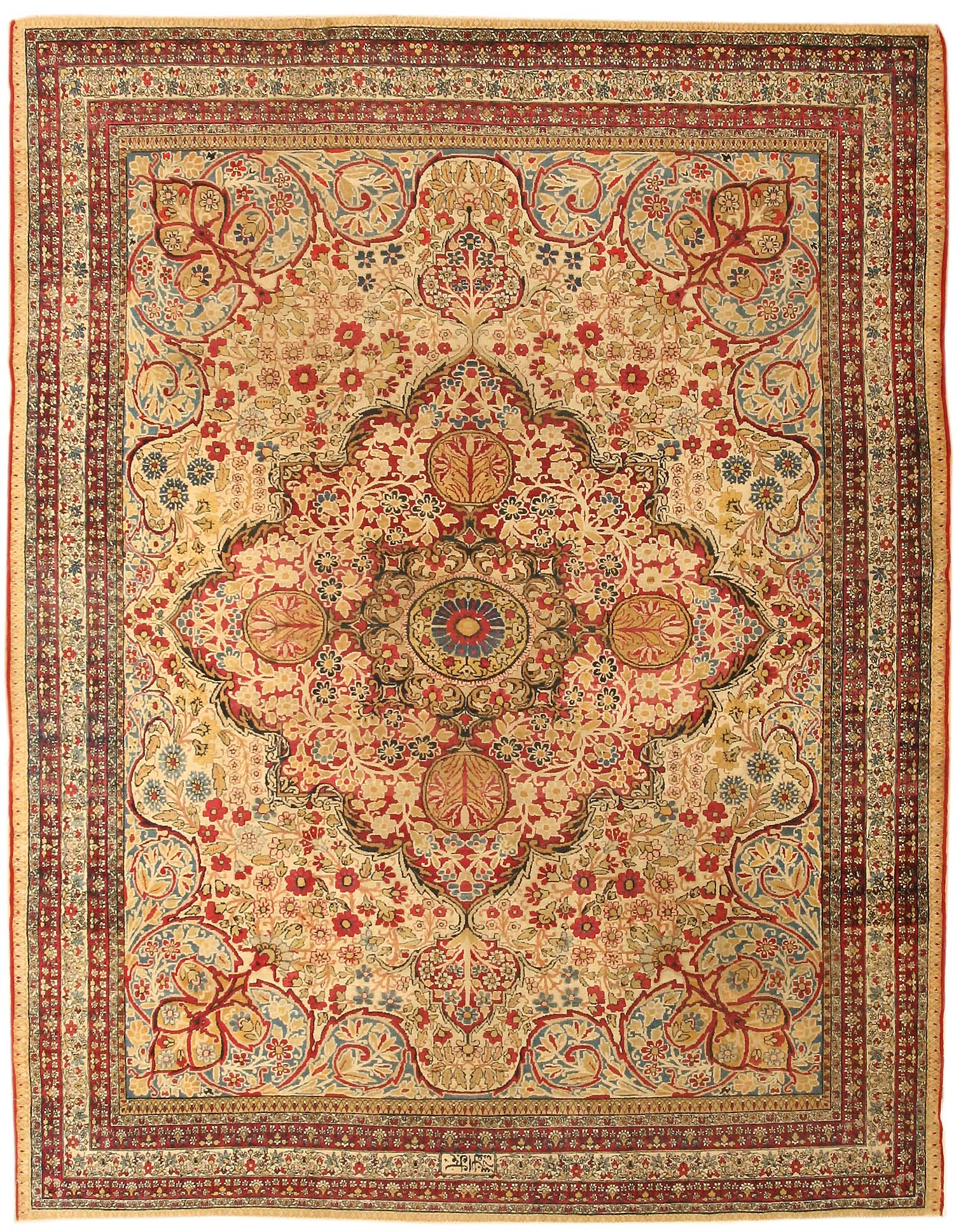 Antique Kerman Persian Rug 43384