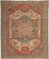 Antique Heriz Serapi Persian Rug #44537 Color Details - By Nazmiyal