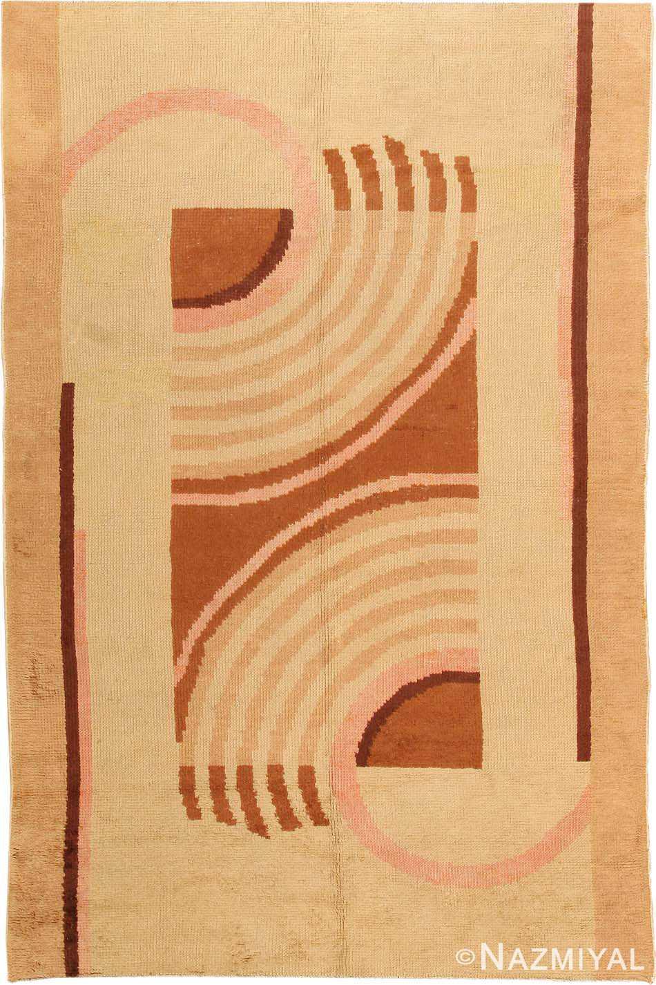 Vintage French Art Deco Carpet 42740