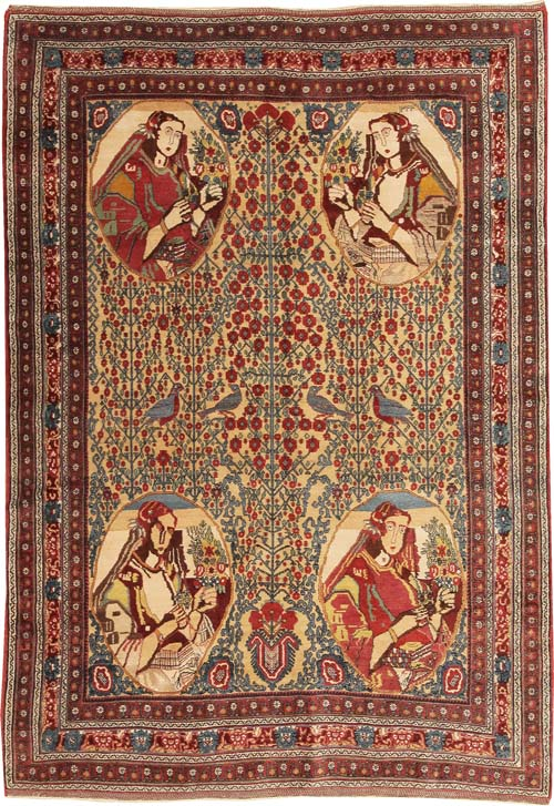 Antique Afshar Persian Rug #43755 Main Image - By Nazmiyal