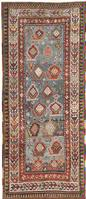 Antique Kazak Caucasian Rug 44563 Color Details - By Nazmiyal