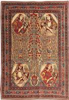 Antique Afshar Persian Rug #43755 Color Details - By Nazmiyal