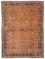 43574 Antique Mehajeran Persian Rug color Antique Persian Farahan Carpet 47201