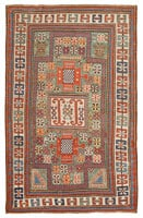 Antique Kazak Caucasian Rug 45191 Color Details - By Nazmiyal