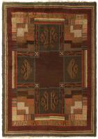 color 45786 Vintage Swedish Rya Rug 47323