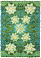 Vintage Rya Rug 45791 Color Detail - By Nazmiyal