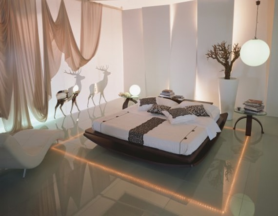 LED Lit Modern Bedroom