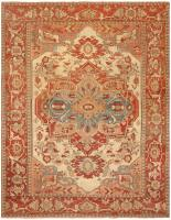 Antique Persian Serapi Rug 46247 Color Detail - By Nazmiyal