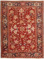 Antique Persian Heriz Rug 46392 Color Detail - By Nazmiyal