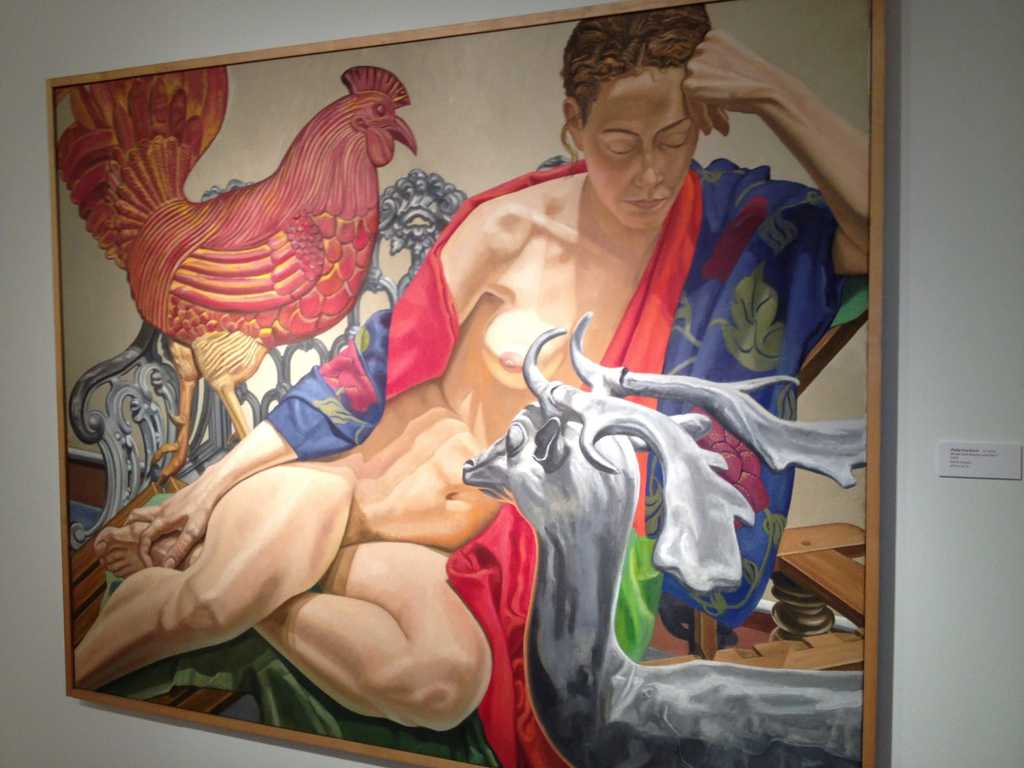 Model with Rooster and Deer from Philip Pearlstein
