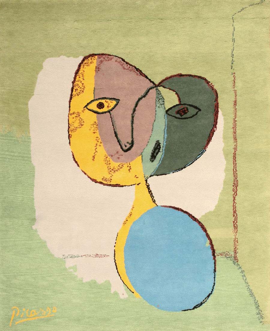 Vintage Rug by Pablo Picasso