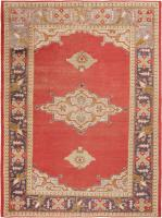 color 46803 Antique Ivory Background Oushak Carpet From Turkey 47443