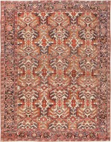 Antique Heriz Rug 47160 Color Detail - By Nazmiyal