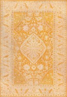 antique oushak rug from turkey 47442 color Antique Ivory Background Oushak Carpet From Turkey 47443