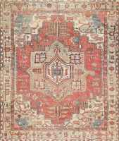antique persian heriz serapi rug 47444 color Antique Persian Heriz Serapi Carpet 47457