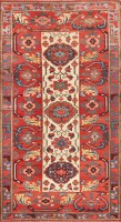 Antique Persian Kurdish Bidjar Rug 47409 Color Detail - By Nazmiyal
