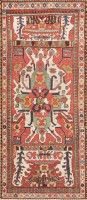 Tribal and Collectible Antique Caucasian Chelaberd Eagle Kazak Rug 47473 Color Detail - By Nazmiyal