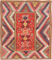 Antique Caucasian Bordjalou Kazak Rug 47368 Color Detail - By Nazmiyal