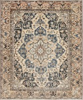Antique Decorative Persian Bakhtiari Carpet 46840 Color Detail - By Nazmiyal
