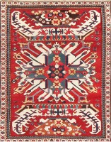 Antique Caucasian Chelaberd Eagle Kazak Rug 47607 Color Detail - By Nazmiyal