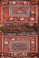 Antique Persian Tribal Bakhtiari Saddle Bag 47881 Color Detail - By Nazmiyal