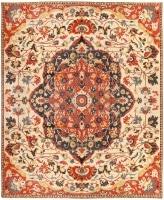 Antique Persian Sarouk Farahan Carpet 46926 Color Detail - By Nazmiyal