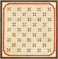 Antique Deco American Hooked Rug 2714 Color Detail - By Nazmiyal