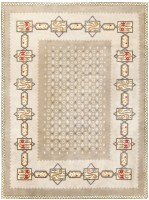 Gorgeous French Art Deco Rug by Leleu 48257 Color Detail - By Nazmiyal